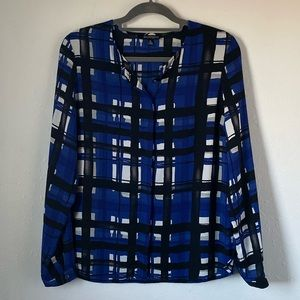 The Limited printed blue blouse